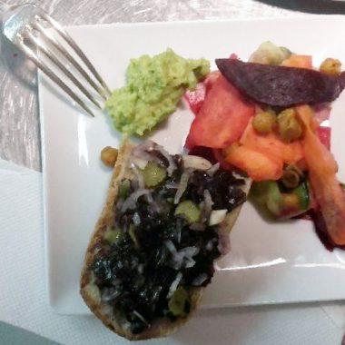 Tartine de tartare d'algues