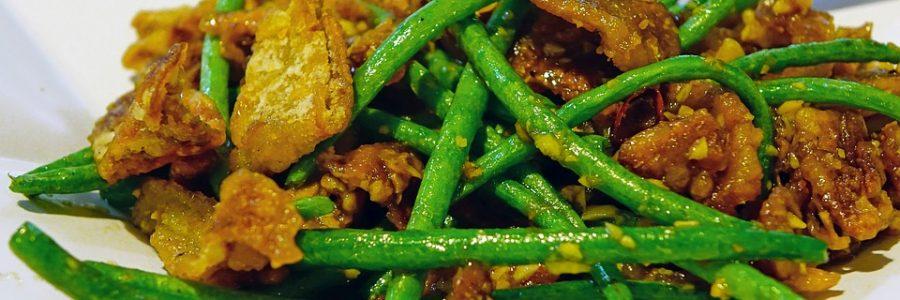 Cassolette de haricots verts aux amandes