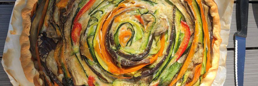 Tarte de légumes en spirale